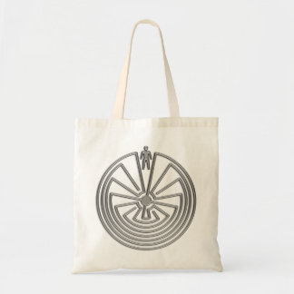 The Man in the Maze - silver Tote Bags