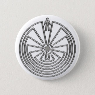 The Man in the Maze - silver Button