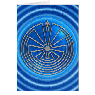 The Man in the Maze - silver Greeting Card