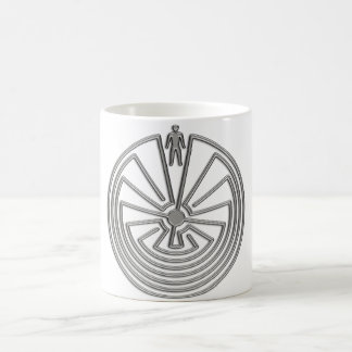 The Man in the Maze - silver Coffee Mug