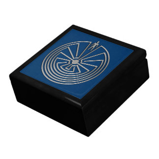 The Man in the Maze - silver Gift Box