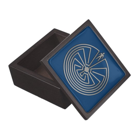 The Man in the Maze - silver Keepsake Box