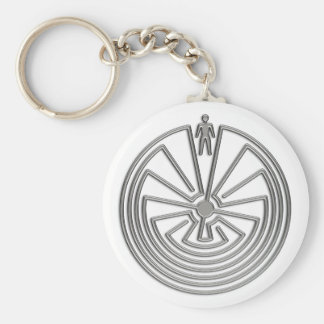 The Man in the Maze - silver Key Chain