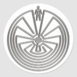 The Man in the Maze - silver Sticker