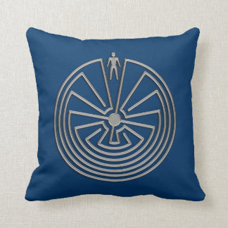 The Man in the Maze - silver Throw Pillow