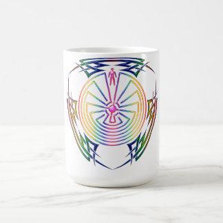 The Man in the Maze - Tribal Tattoo colored Classic White Coffee Mug