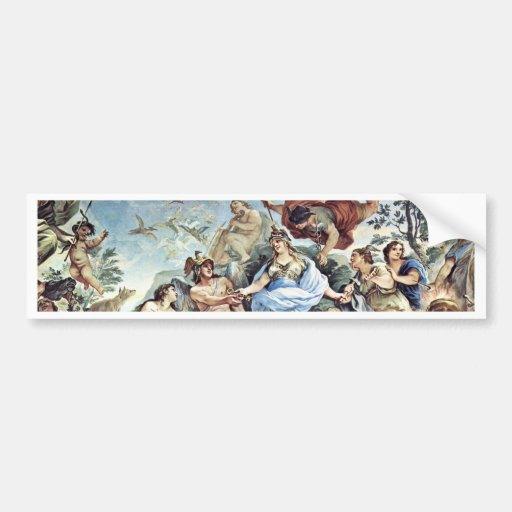 The Man In The Middle Of His Life By Luca Giordano Car Bumper Sticker