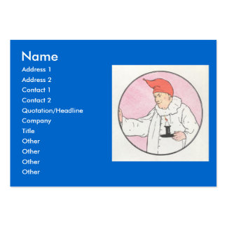The Man in the Moon looked out of the moon Large Business Cards (Pack Of 100)