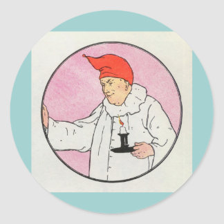 The Man in the Moon looked out of the moon Classic Round Sticker