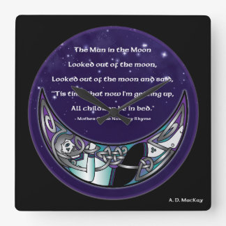 The Man in the Moon Square Wall Clock