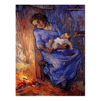 The Man is at Sea after Demont-Breton by van Gogh Postcard