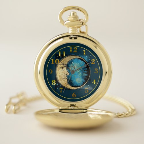 The Man Is The Moon Pocket Watch