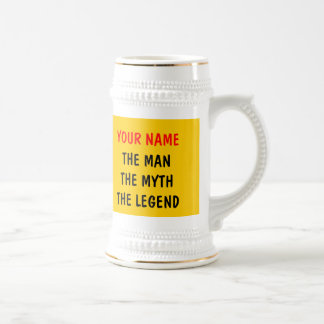 The man myth legend beer mugs | Personalizable