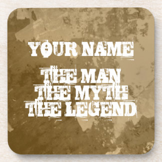 The man myth legend cork coaster set | Personalize