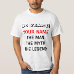 The man myth legend t shirt for 50th Birthday men