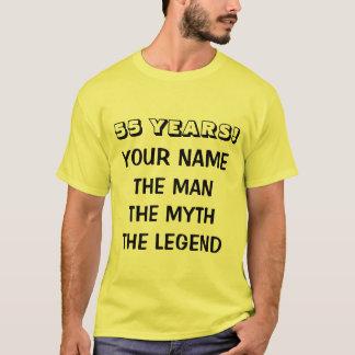 The man myth legend t shirt for 55th Birthday men