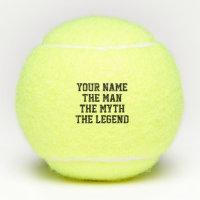 The man myth legend tennis balls gift set for him