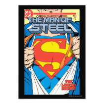 superman, super man, action comics, man of steel, super hero, comic book, dc comic, classic comic book, adventures of superman, lois lane, super girl, superman story, Invitation with custom graphic design