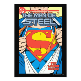 The Man of Steel #1 Collector's Edition 5x7 Paper Invitation Card