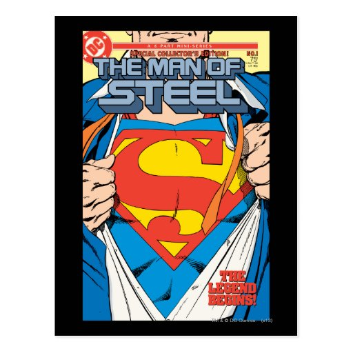 The Man of Steel #1 Collector's Edition Postcard
