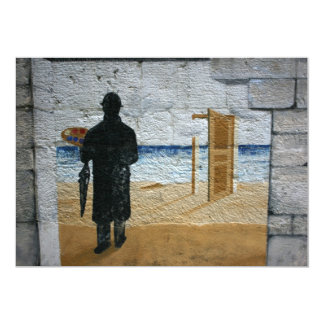 "The Man on the Wall 5"" X 7"" Invitation Card"