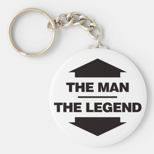 The Man The Legend - Black Keychain