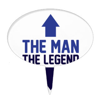 The Man The Legend Cake Topper