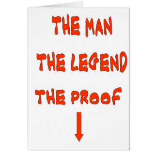 THE MAN THE LEGEND CARD