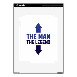 The Man The Legend Decal For iPad 3