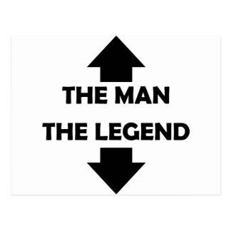 the man the legend icon postcard