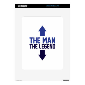 The Man The Legend iPad Decal
