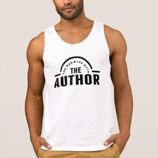 The Man The Myth The Author Tank Top Tank Tops, Tanktops Shirts