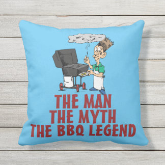 The Man The Myth The BBQ Legend Outdoor Pillow