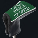 """The man the myth the legend golf head putter cover<br><div class=""""desc"""">The man the myth the legend golf head putter cover with vintage typography. Trendy golf club head protection gift for friends and family. Funny unique golfing gift ideas for him; worlds greatest dad, father, papa, best grandpa, step dad, uncle, grandfather, granddad, golfer, business partner, over the hill friend, boss, groom,...</div>"""