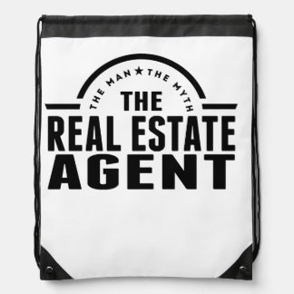 The Man The Myth The Real Estate Agent Drawstring Backpack