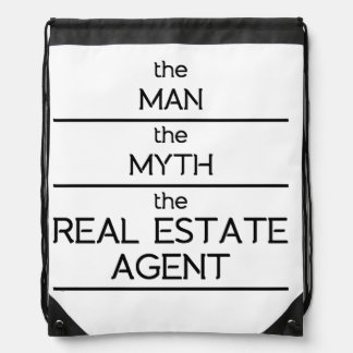 The Man The Myth The Real Estate Agent Drawstring Bag