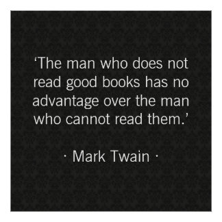 The man who does not read good books poster