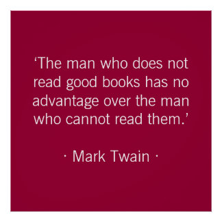 The man who does not read good books print