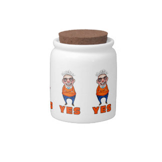 The man who says YES Candy Jar