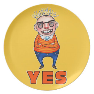 The man who says YES Dinner Plate