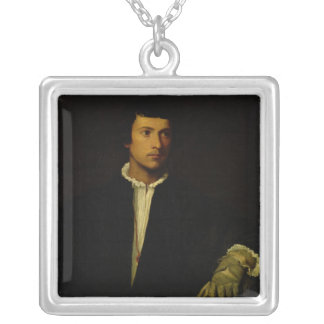 The Man with a Glove, c.1520 Silver Plated Necklace