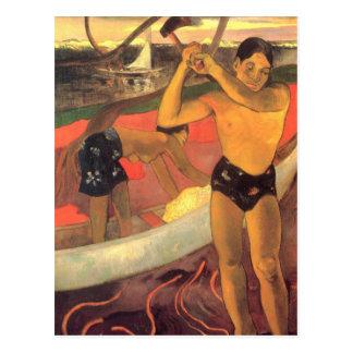 The man with the Ax - Paul Gaugun Postcard