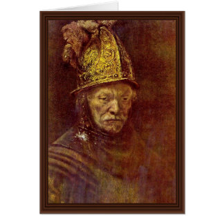 The Man With The Golden Helmet. Card