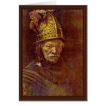 The Man With The Golden Helmet. Greeting Card