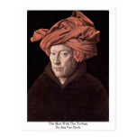 The Man With The Turban,By Jan Van Eyck Post Card