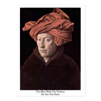 The Man With The Turban,By Jan Van Eyck Postcard