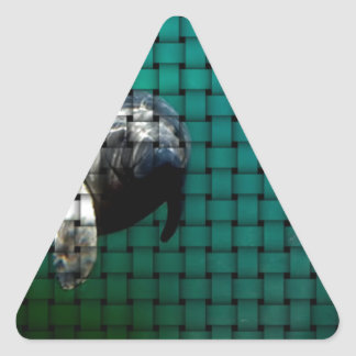 The Manatee of Volusia County, Florida Triangle Sticker