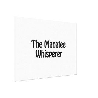 the manatee whisperer canvas print