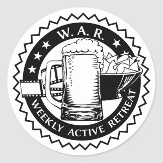 The Mancave Weekly Active Retreat black edition Classic Round Sticker