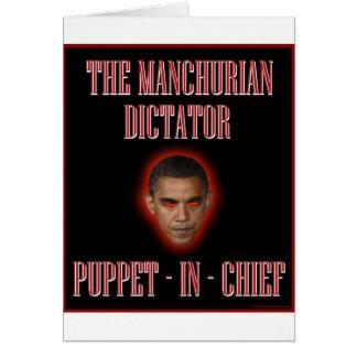 The Manchurian Dictator Greeting Card